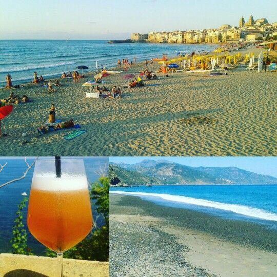 Sicily Sea Spritz all of my needs. Cefalù #sun #holiday #Sicily @Liveyoursicily.com