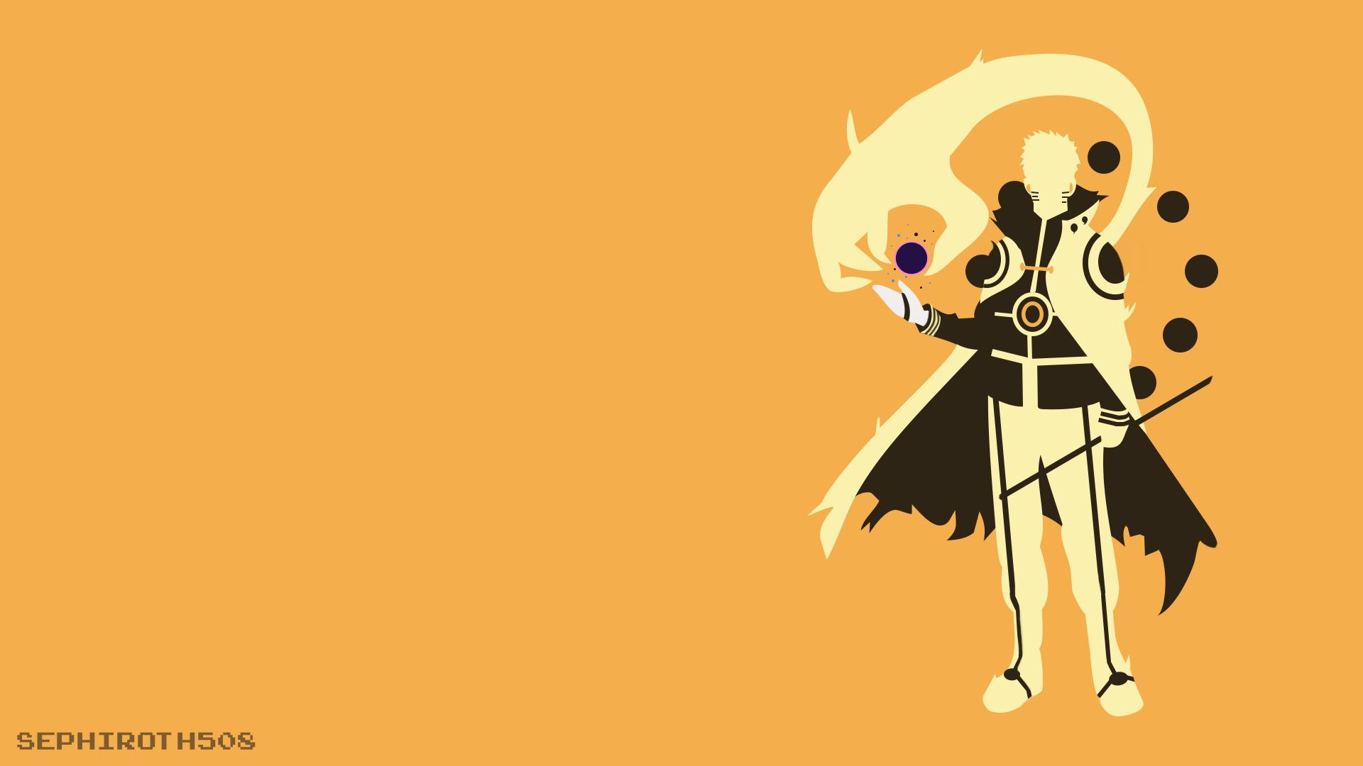 Hokage Uzumaki Naruto Bijuu Mode Minimalist By Sephiroth508