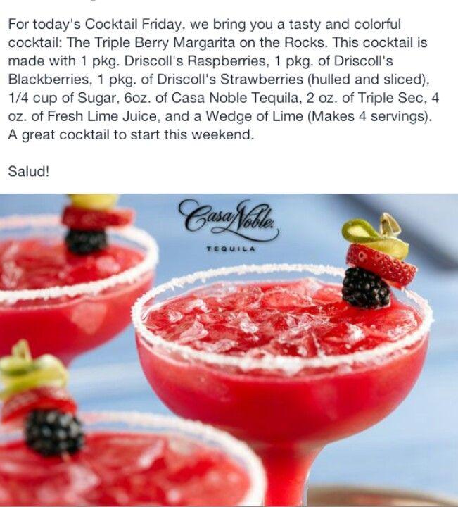Triple Berry Margarita On The Rocks