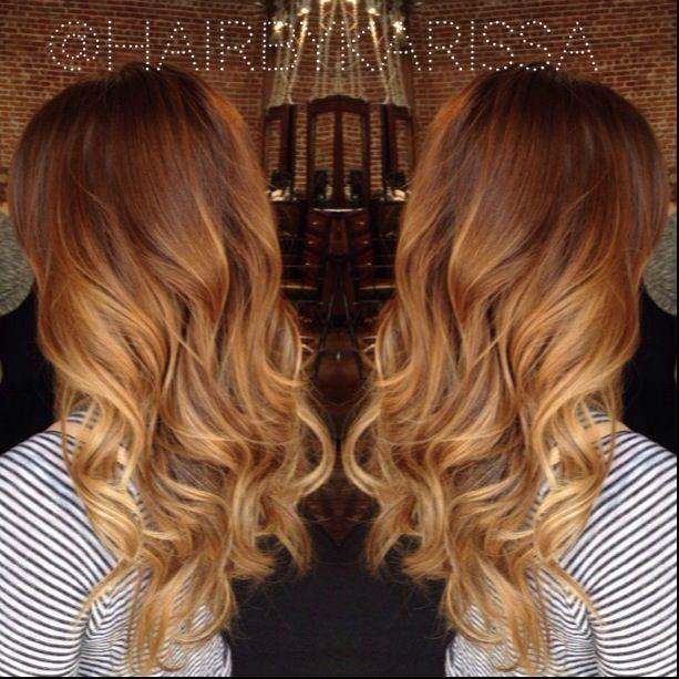 Golden Ombre Hair Auburn Balayage Balayage Hair
