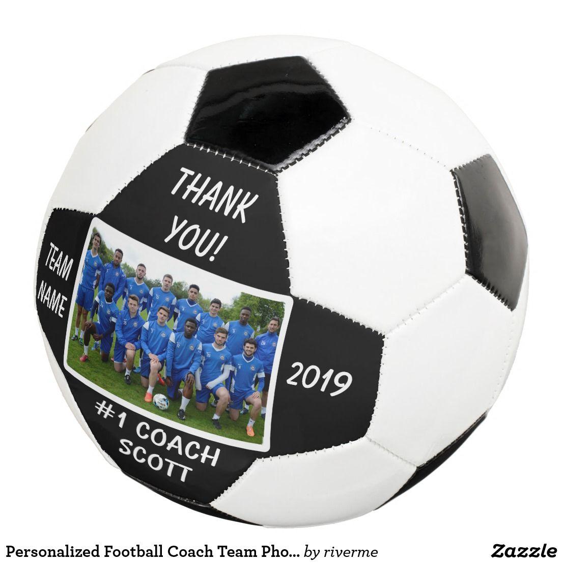 Personalisiertes Fussball Trainer Team Foto Danken Fussball