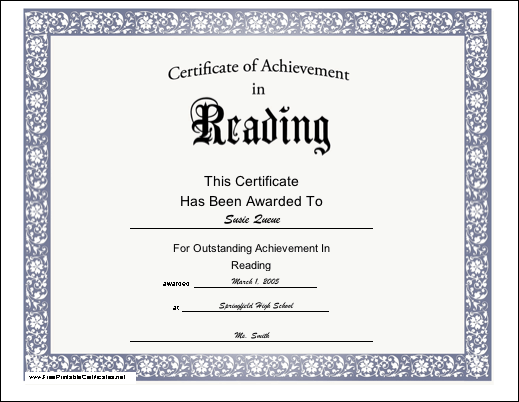 This free, printable certificate of achievement for second grade ...
