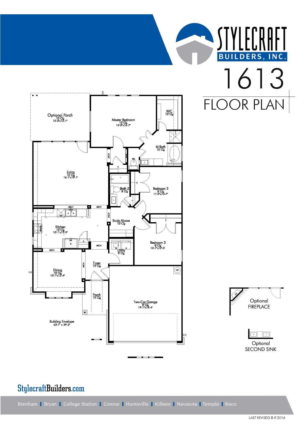 1613 Floor Plan Brookview Community Stylecraft Builders Floor Plans How To Plan Stylecraft