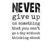 Never give up sisustustarra
