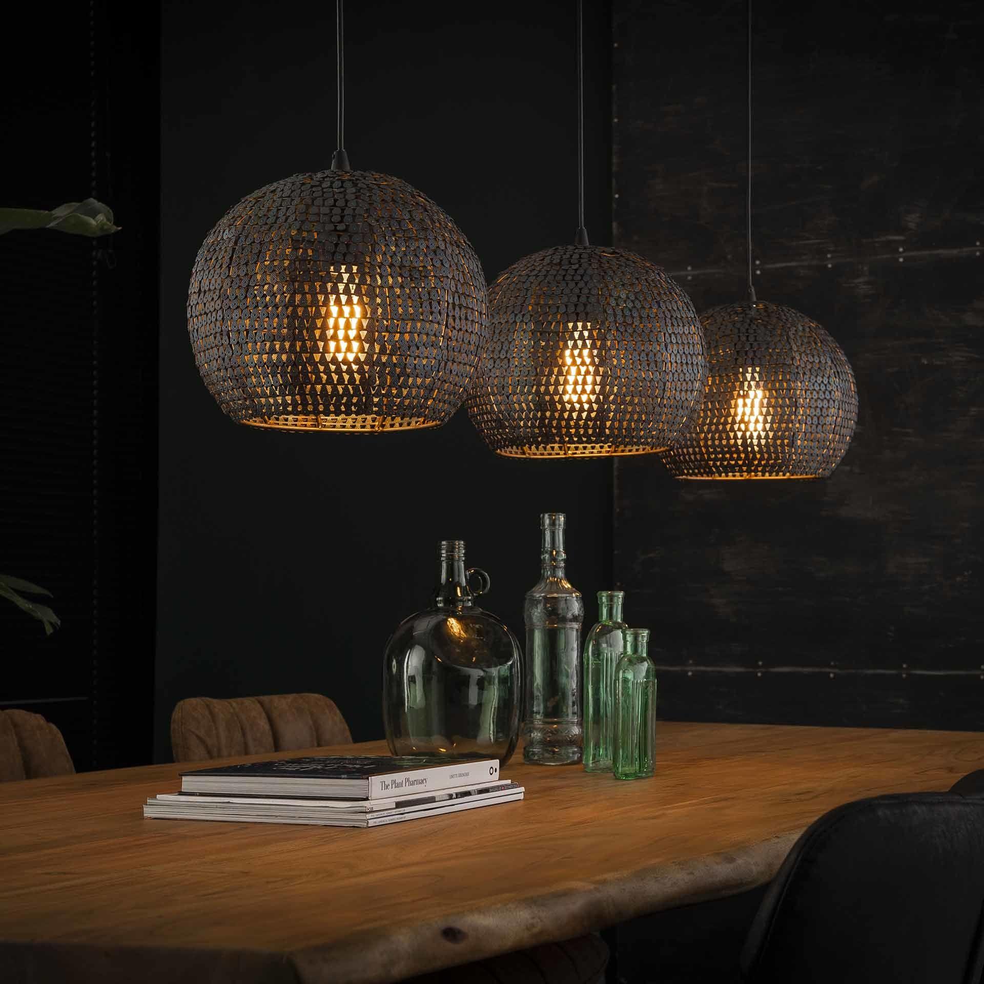 Industriele Hanglamp Meghan 3 Lichts Bruin Half Rond In 2020 Eettafel Verlichting Hanglamp Eetkamer Lamp Design