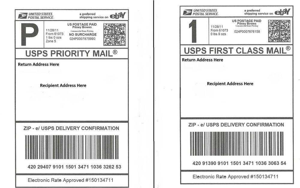 100 Self Adhesive Shipping Labels Laser Inkjet Printer Paypal Ups Usps Fedex Address Label Template Label Templates Printable Label Templates