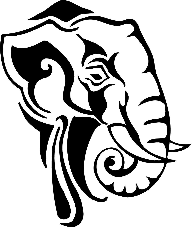 Elephant Vinyl Decal By Theonecherryblossom On Etsy 4 50 Animal Stencil Scroll Saw Patterns Free Scroll Saw Patterns [ 1500 x 1270 Pixel ]