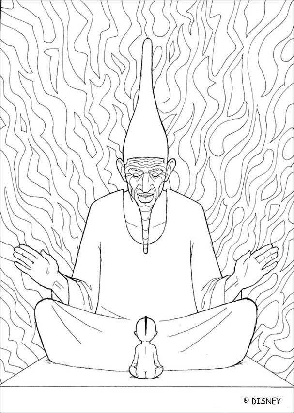 Painteds Kin Kirikou Et Le Grand Sage раскраски