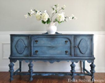 Credenza Shabby Chic Fai Da Te : Vintage hand painted french country cottage chic shabby distressed
