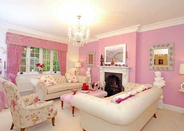 Who says pink is just for the bedroom? Try a pastel living room ...