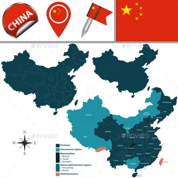 Vector Map Of China Vector Graphics Map Vector Vector Pattern