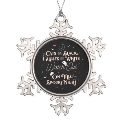 Watch Out On This Spooky Night Snowflake Ornament | Zazzle.com #20thanniversarywedding