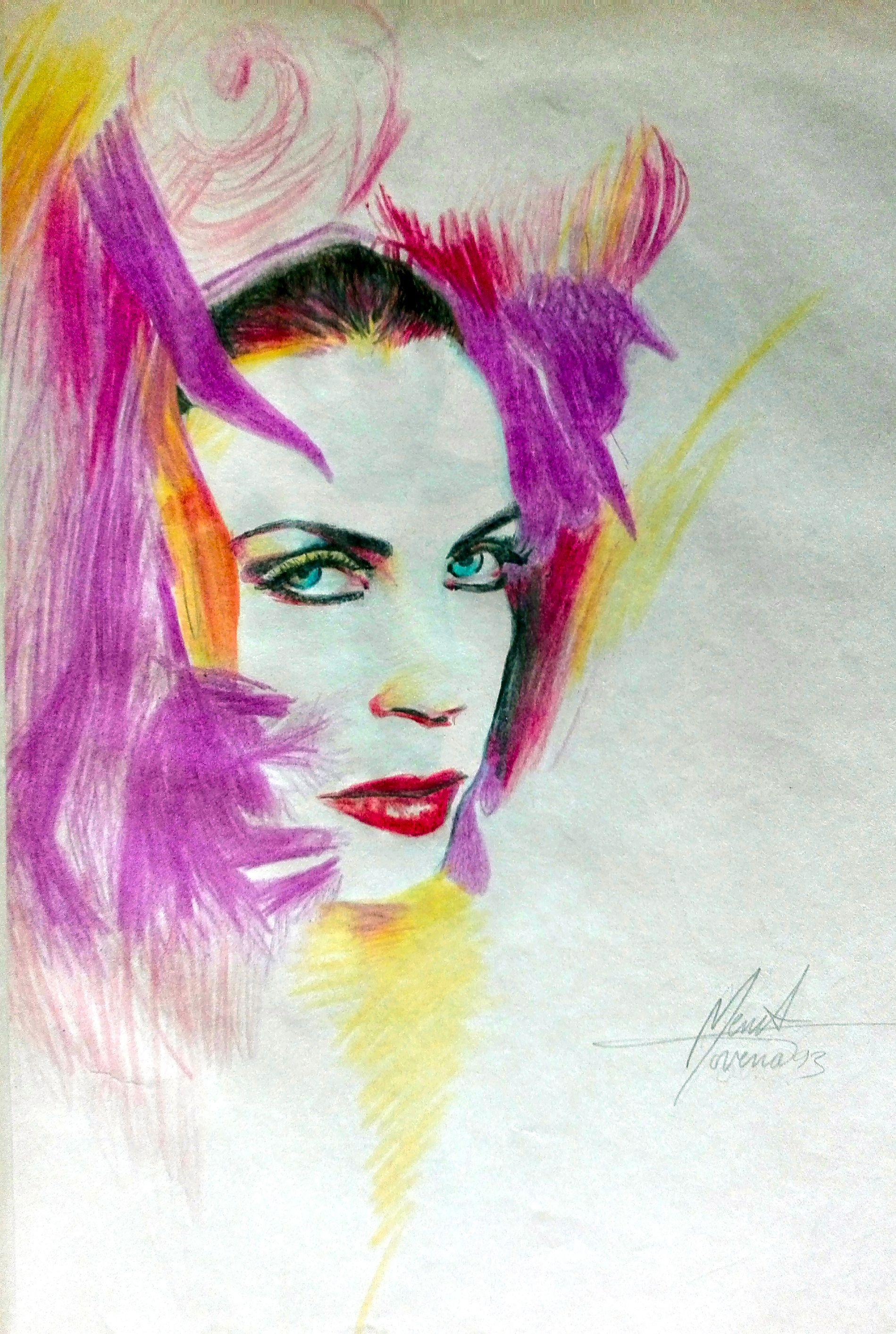 Annie lennox diva drawing art portrait retrato dibujo arte art art interview artists magazine - Annie lennox diva ...