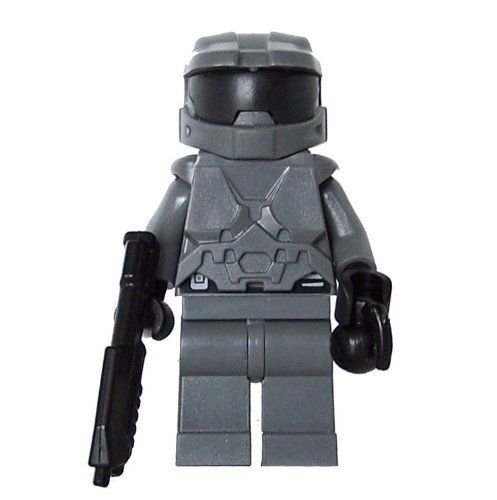 c7406b55 Space Marine (Dark Gray) - LEGO Compatible Minifigure . $16.00. The helmet  and armor on this figure are made by BrickForge and includes a BrickArms  SAR, ...