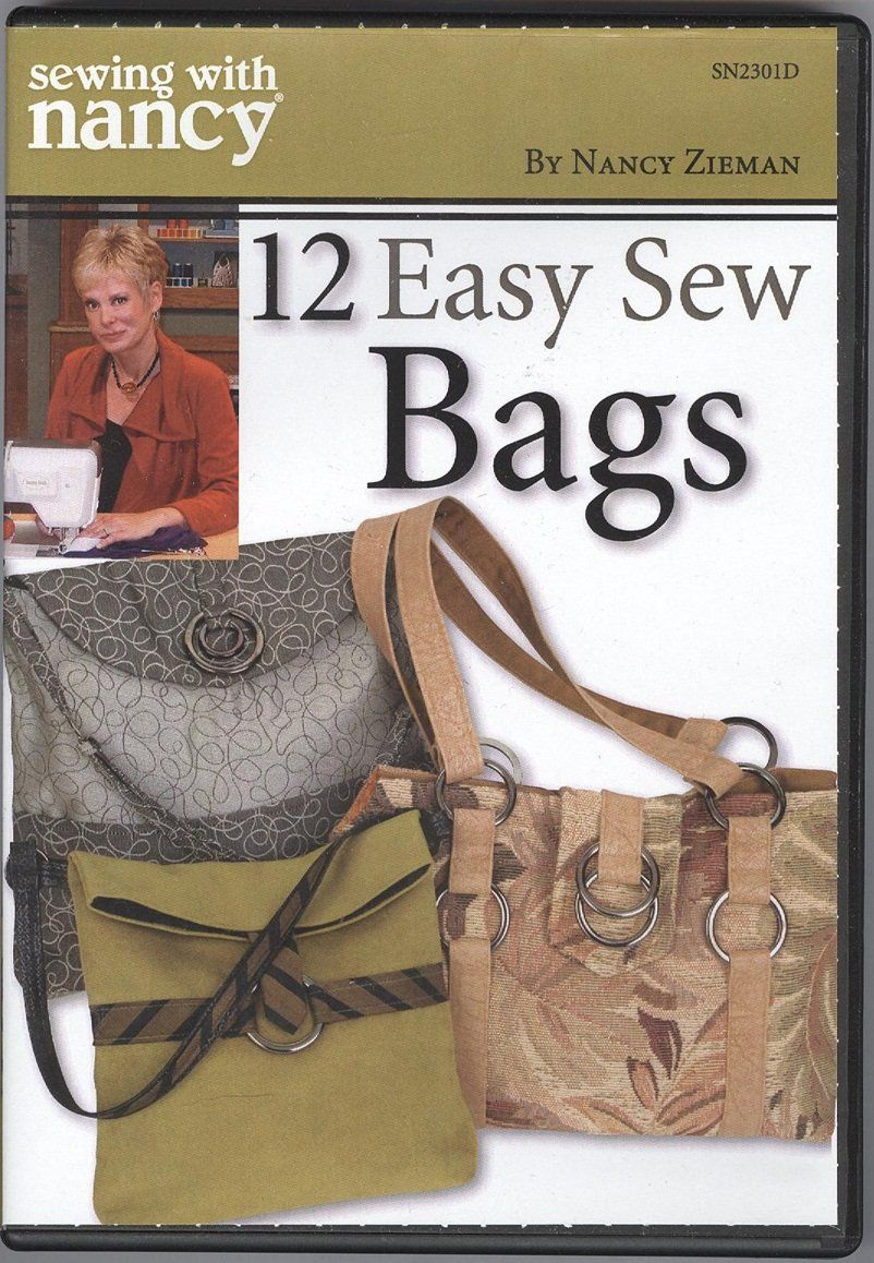 Sewing with nancy zieman 12 easy sew bags dvd bags pinterest sewing with nancy zieman 12 easy sew bags dvd jeuxipadfo Image collections
