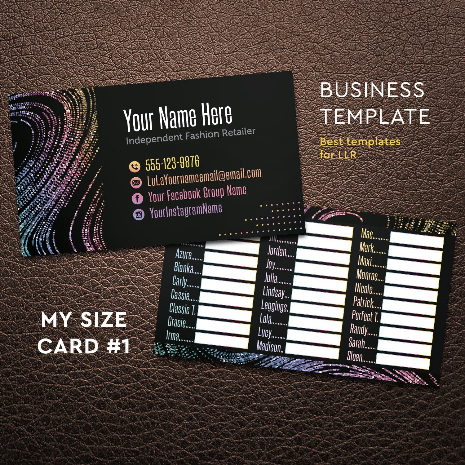 My size card, New Style 2017, Business Card, Free Personalize, Lula ...