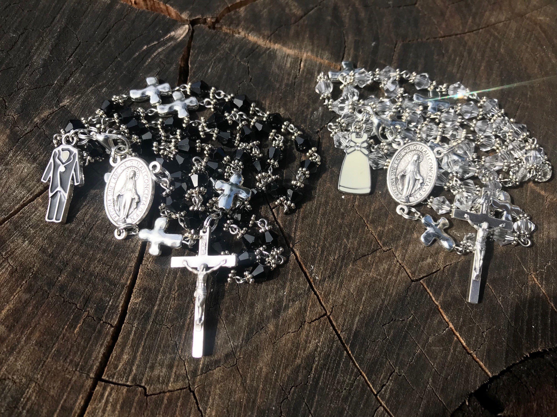 Catholic Rosary Set Matching Bride And Groom Wedding Gift Catholic