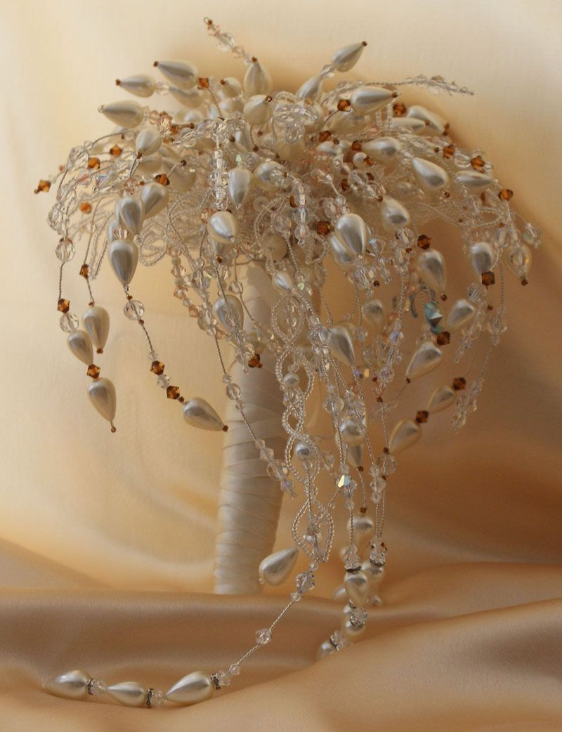 crystal and pearl bouquet