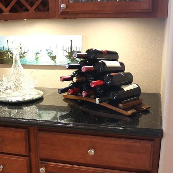 Countertop Wine Rack Tabletop Wine Rack Wooden Wine Bottle