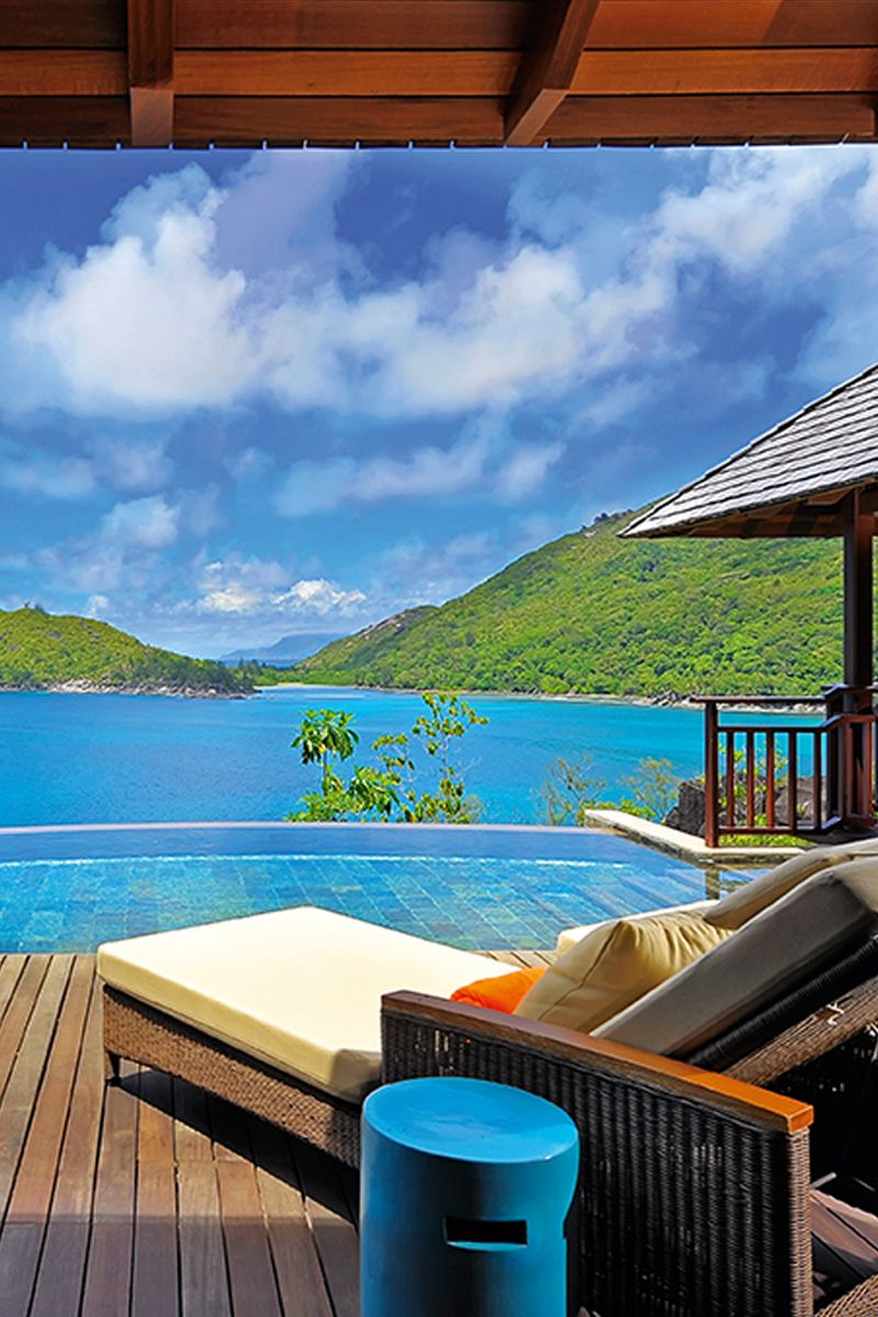 Incredible Ocean views from the guest room terrace at Constance Ephelia, Seychelles