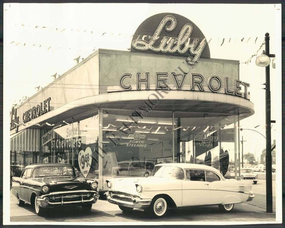 Luby Chevrolet Baltimore In The 1950s New 1957 Chevrolets On