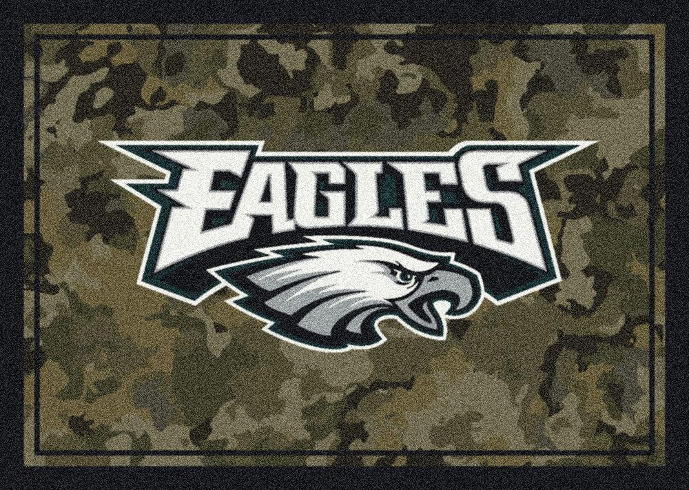 rug eagles runner field philadelphia football