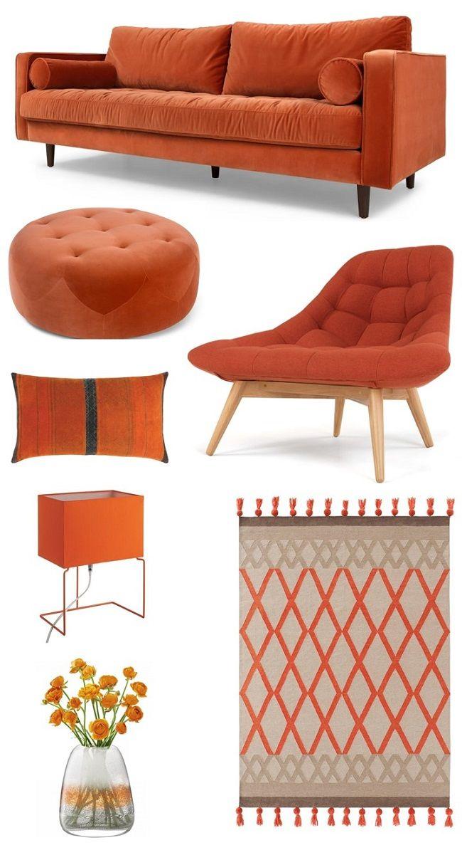 Beautiful Burnt Orange Living Room Ideas