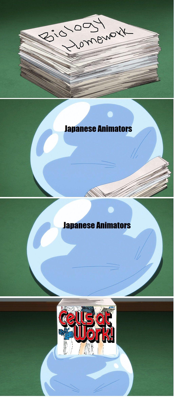 Cells At Work Meme From Reddit Anime Funny Work Memes Funny Anime Pics