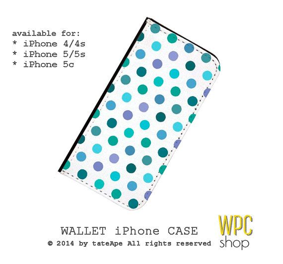 Wallet polka dots iPhone 5 case polka dots by WalletPhoneCase, $21.00