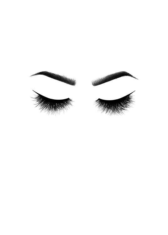 Poster con ciglia poster di moda in bianco e nero h for Sfondi bianco e nero tumblr