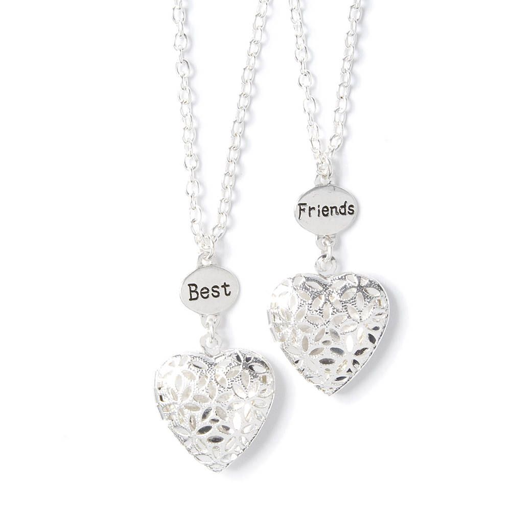 friend best heart lockets pendant double buy chains girls for necklace silver link and women