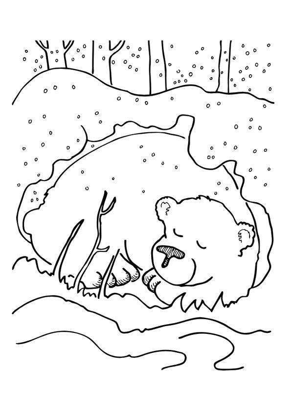 print coloring image | Kita, Winter und Tier