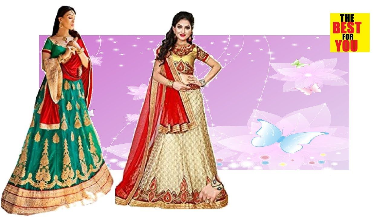 Lehenga choli Dresses Fashion Designs wearing in Flipkart amazon shoppin.