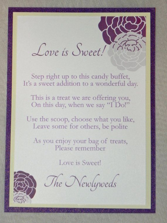 Candy Buffet Sign/Love is Sweet Sign in by MySentimentsInvites, $5.00