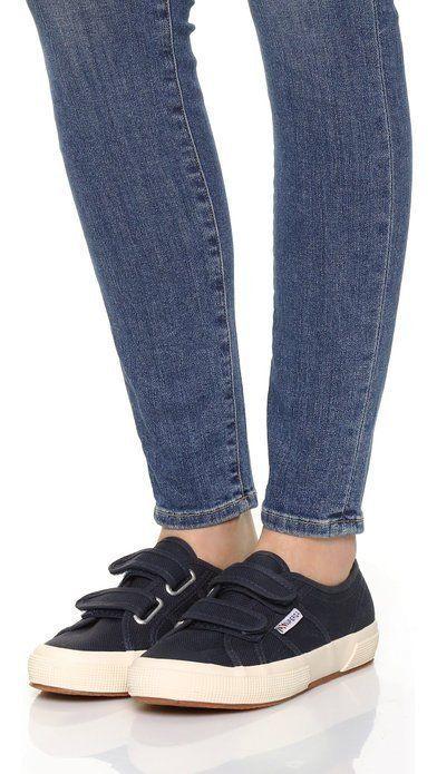wholesale dealer 06849 7d456 Superga Velcro Sneakers 2750 Navy Canvas 38EU 7.5 US Women 6US Men 5 Mex  S001TU0  Superga  LoafersMoccasins  Casual  Superga2750Navy
