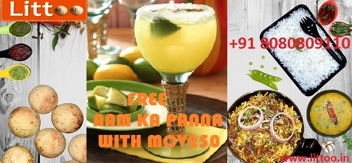Today Littoo Restaurant offer FREE AAM KA PANNA WITH