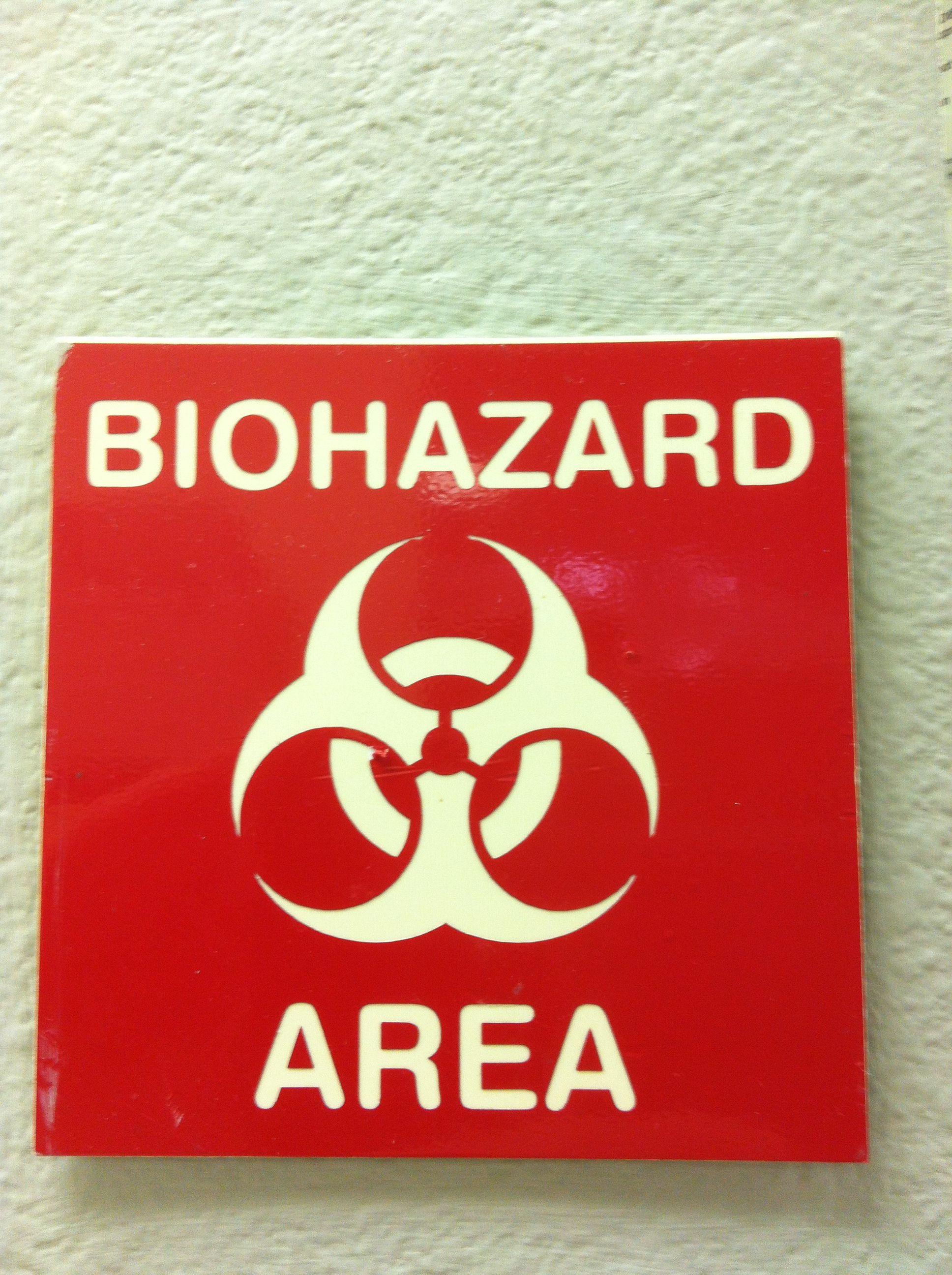 Biohazard sign Dental office