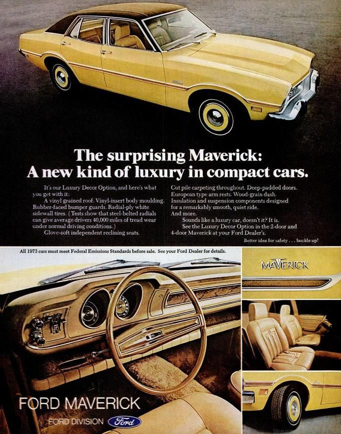 Ford Maverick 1972 Vintage Advertising Ford Maverick Car Ads