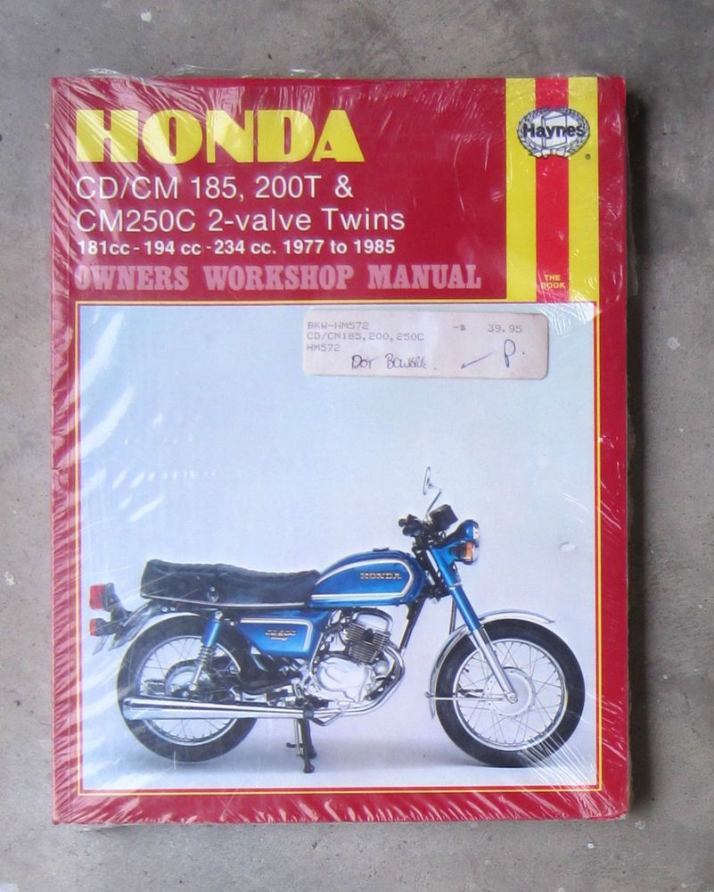 medium resolution of honda cd200 cm250 workshop service repair haynes manual benly cd cm 185 200 250 haynes