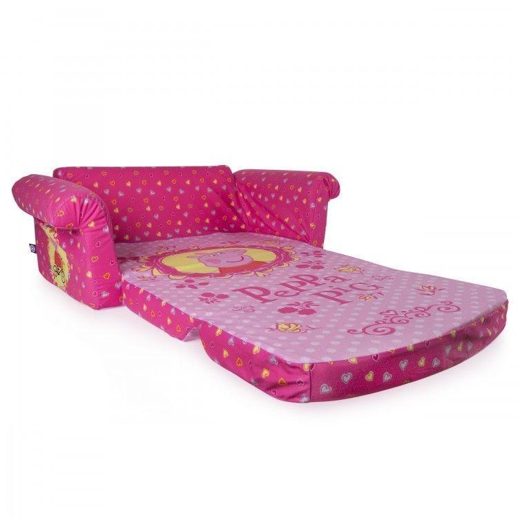 Peppa Pig Flip Open Sofa Sleeper Playroom Furniture Machine Washable Slip Cover Marshmallowfurniture