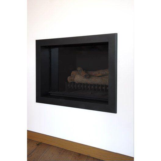 Cadre de cheminee invicta insert foyer fireplaces for Insert et foyer ferme