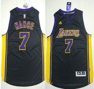 4f3d7580c Los Angeles Lakers Jersey 7 Larry Nance Revolution 30 Swingman 2015 New  Black Short-Sleeved Jerseys