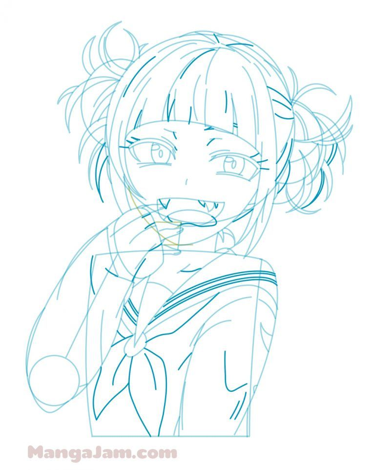 How To Draw Himiko Toga From My Hero Academia Mangajam Com Anime Character Drawing Drawings Character Drawing