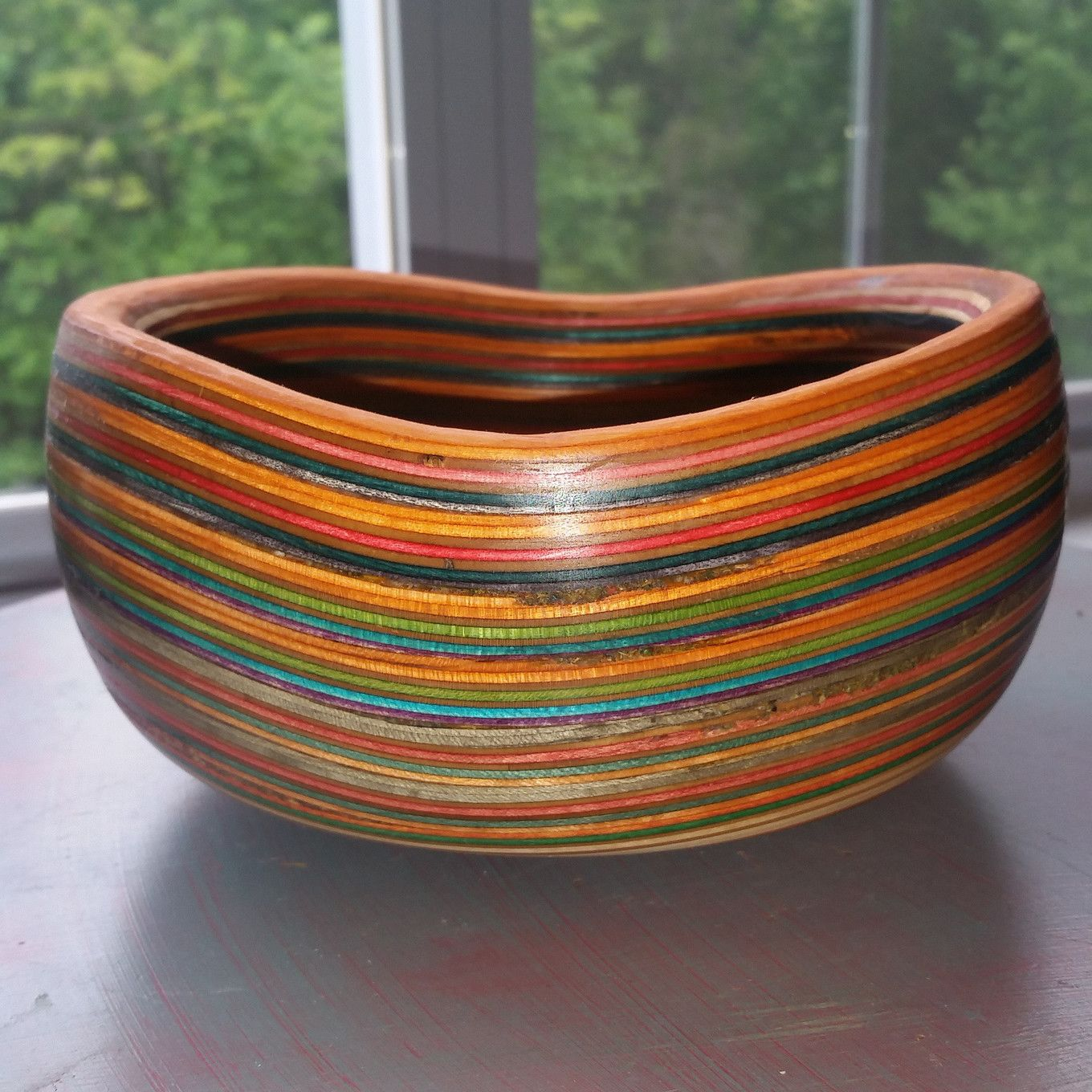 Bowl Made From Recycled Skateboard Noses And Tails Skateboard Wood Turned Bowls Recycling