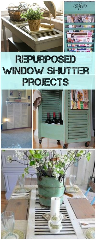 Repurposed Window Shutter Projects | TBD • Home Decorating ...