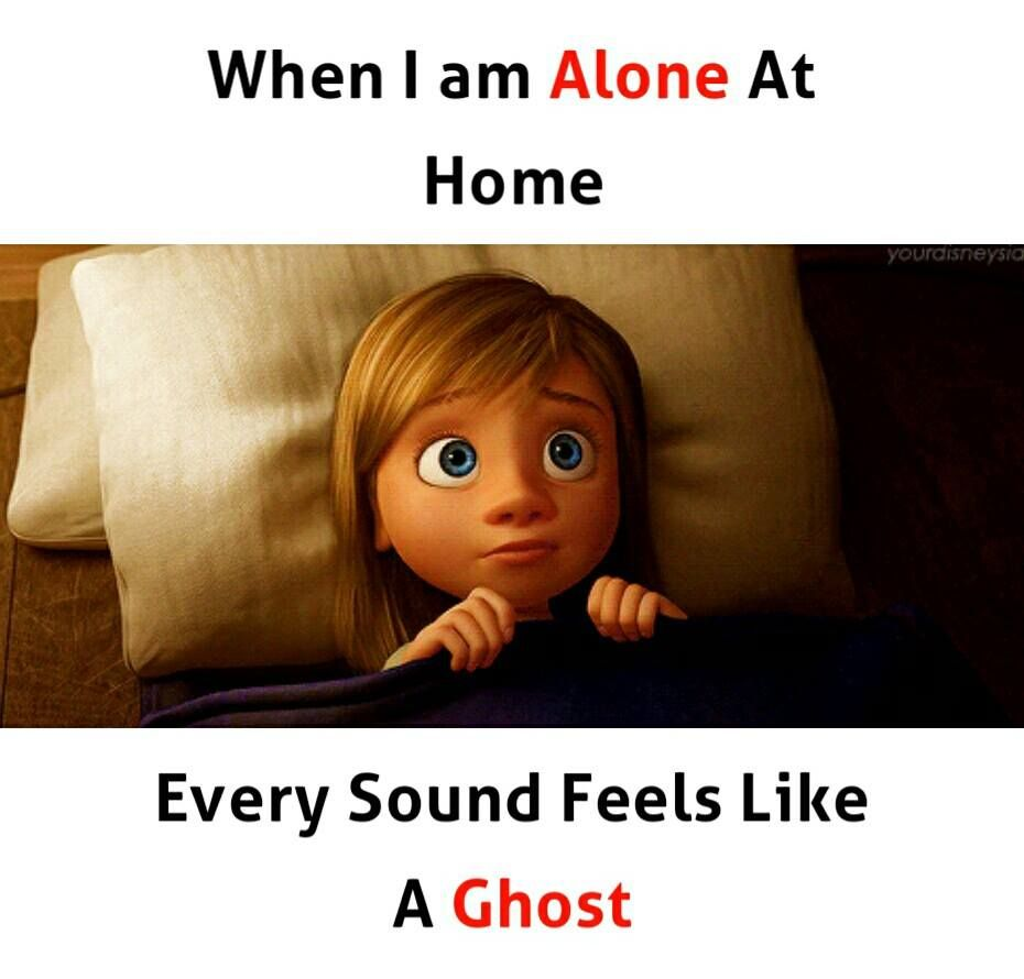 When I Am Alone At Home Every Sound Feels Like A Ghost Who Else Feels Like So Latest Funny Jokes Friends Quotes Funny Fun Quotes Funny