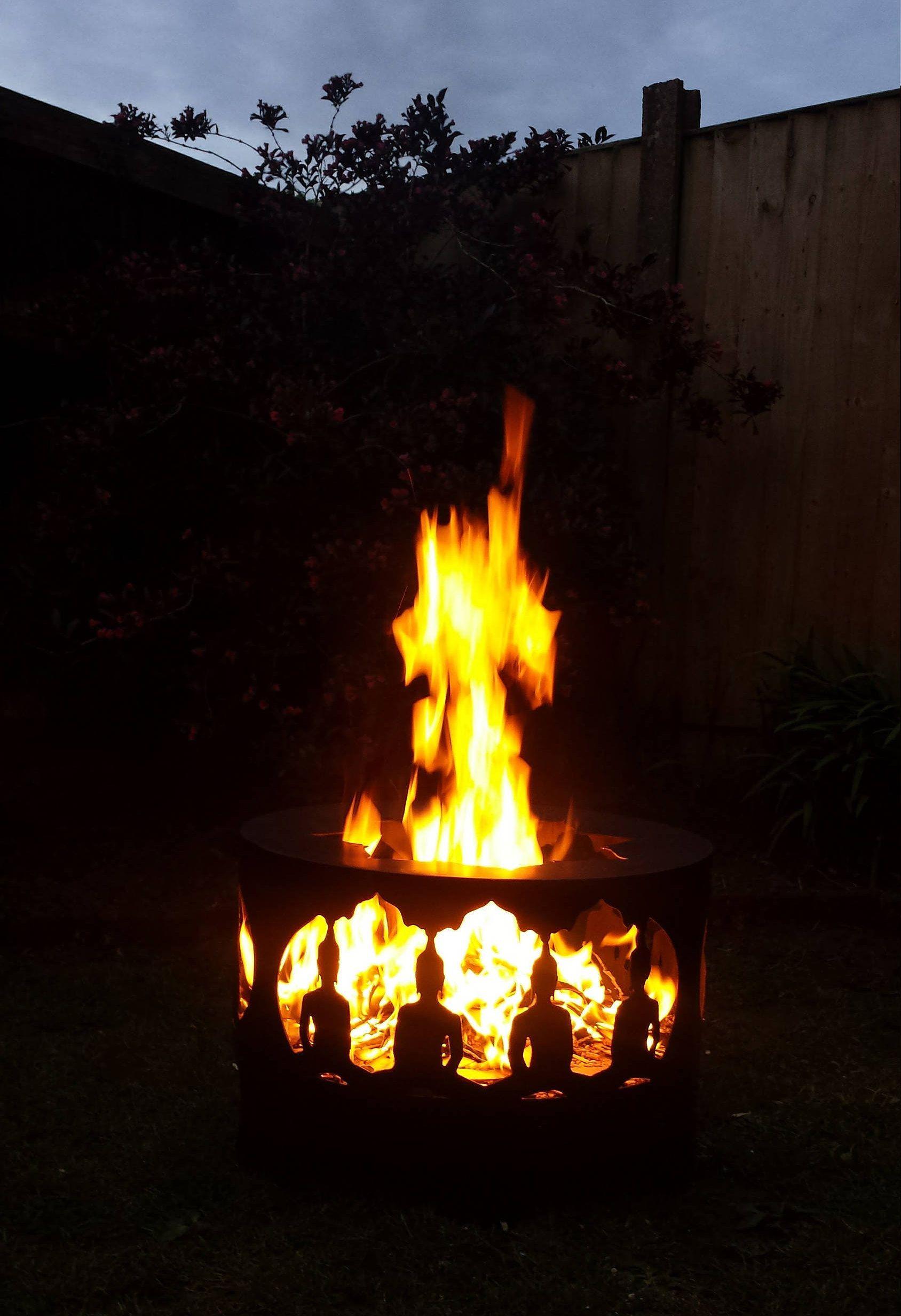 Bespoke Buddah Lotus Flower Fire Pit Chiminea Custom Made Fire