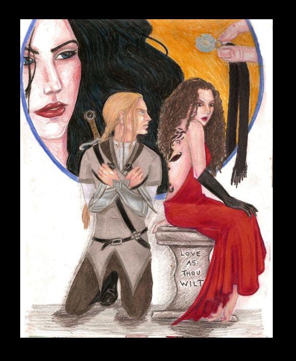 Kushiel's Dart by *raemae on deviantART. It shows Phèdre, Joscelin and, Melisande. LOVE AS THOU WILT