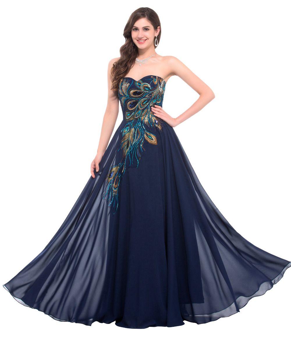Black evening dresses long aline chiffon dinner dress pins all
