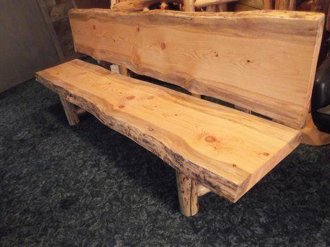 Log Slab Bench - log furniture | Outdoors | Pinterest | Log ...